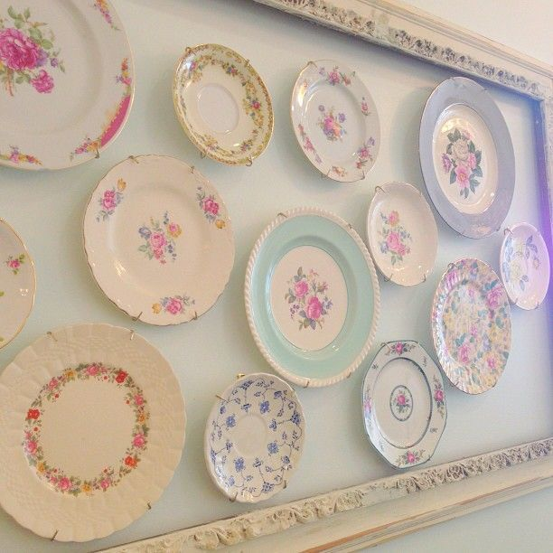 Vintage China Installation  (via mintedandvintage) by The Vintage Table