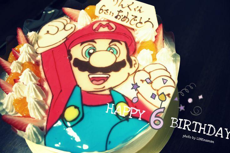 誕生日マリオケーキ!!