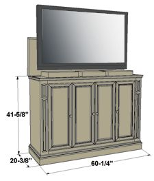 tv lift cabinet genius