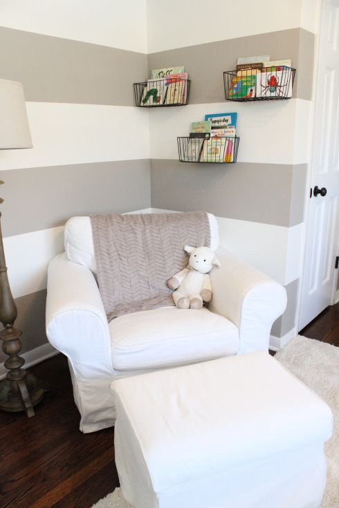 Ikea Ektorp Chair turned nursery rocker