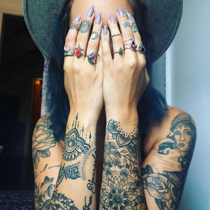 Sleeves _ tattoo _ inked _ babe _ boho 《¤@Healthy_HappyMe ¤》