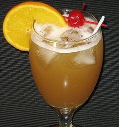 Liquid Cocaine (1 oz. Grand Marnier 1 oz. Vodka 1 oz. Southern Comfort 1 oz. Amaretto 2 oz. Pineapple Juice)