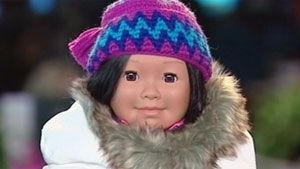 Inuk doll one of Canada's top 10 toys Accessories such as crocheted hat and traditional parka made in Nunavut