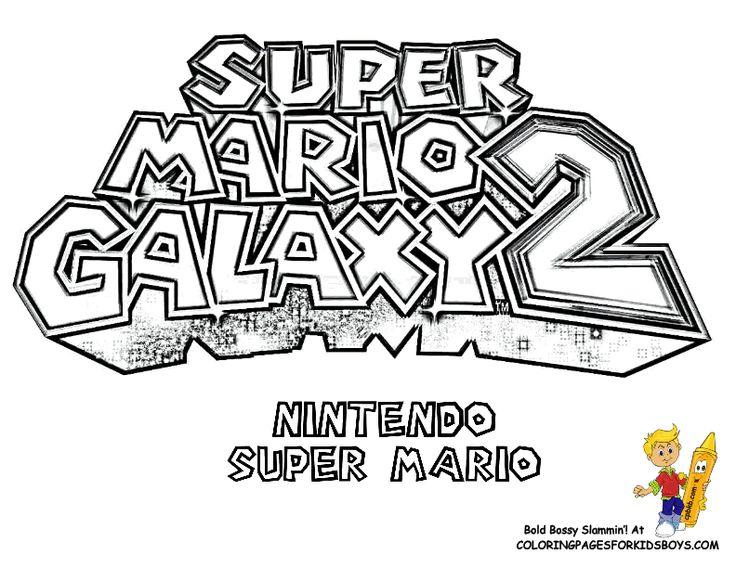 Ausmalbilder Super Mario Galaxy