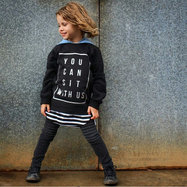 YOU CAN SIT WITH US - KIDS CREW - boozeek graphic tee jumper AW16 #graphictee #slogantee