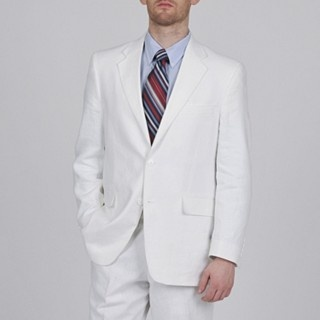 Linen suits are perfect for the spring and summer. A white linen suit is super snazzy. At a buck ten this is a great deal for an Adolfo suit.