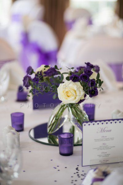 Cadbury purple heart menu for Sophie and James' wedding day. Stationery range at www.sew-unique.co.uk Photograph taken by Alexis Knight photography