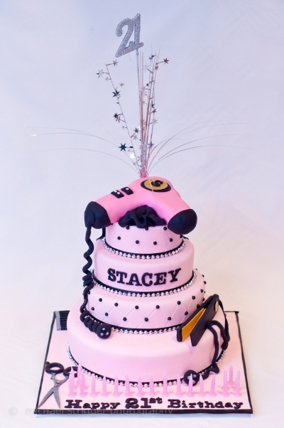 Hairdressing 21st Cake By Footey1 On Cakecentral