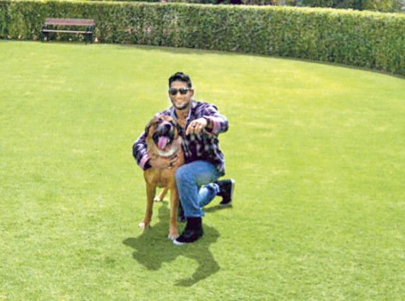 Prateik Babbar is in love with his aunt's English Mastiff called Sancho. Pic/mid-day archives | #indipin