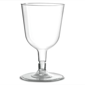 Disposable Wine Glasses Clear 5.3oz / 150ml sleeve of 12 for 2.99 pounds
