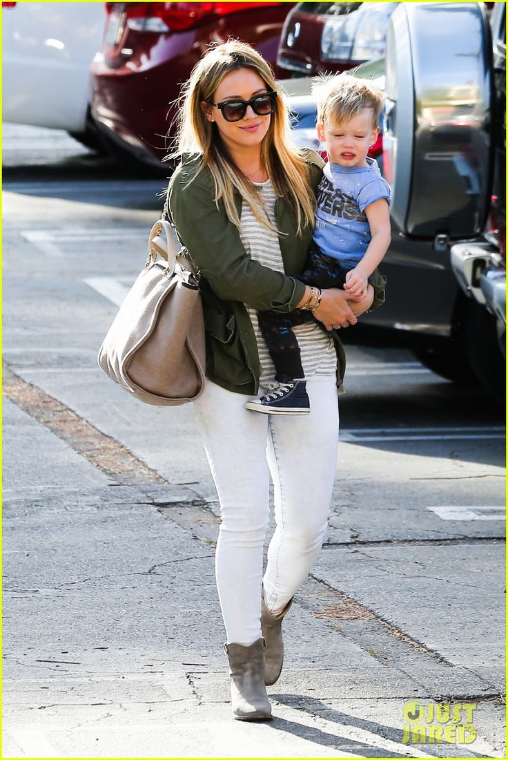 Hilary Duff takes her son Luca to do some retail therapy on February 20, 2014