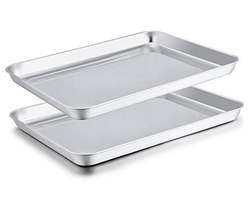 Teamfar Baking Sheet Set Of 2 Stainless Steel Baking Pan Https Smile Amazon Com Dp B078jg1ksp Ref Cm Sw Easy Cleaning Clean Dishwasher Amazon Home Decor
