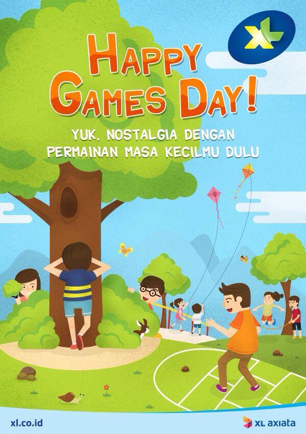 Guys, tahu nggak kalau hari ini adalah Games Day Dunia? ;)  Apa aja nih permainan tradisional Indonesia favoritmu waktu kecil?