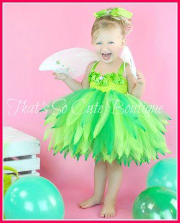 tinker belle tutu dress   Tinkerbell Inspired Party Tutu Dress, Tinkerbell tutu, Fairy Costume ...