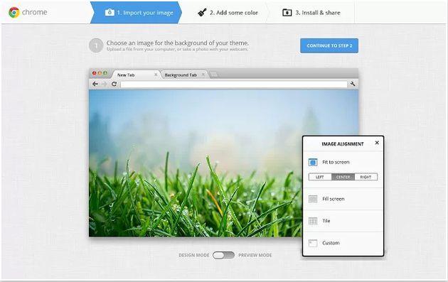 Mi tema de Chrome, crea y comparte temas para Chrome con la app oficial de Google