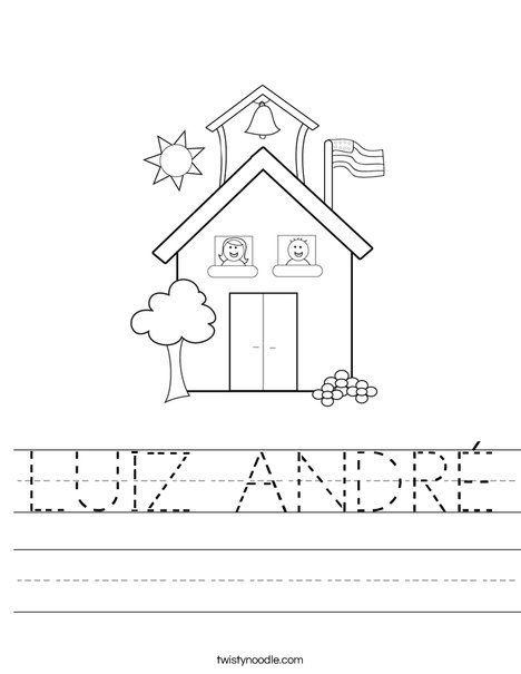 LUIZ ANDRÉ Worksheet - Twisty Noodle   Nomes, Atividades ...
