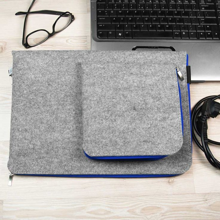 by PurolDesignBags on Etsy #laptop #sleeve #felt #blue #cover #macbook #schutzhulle #pochette #feutre #housse