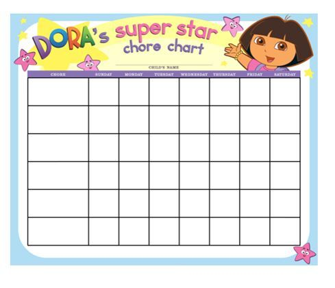 Create a custom chore chart and let kids add a sticker every time they complete a task!
