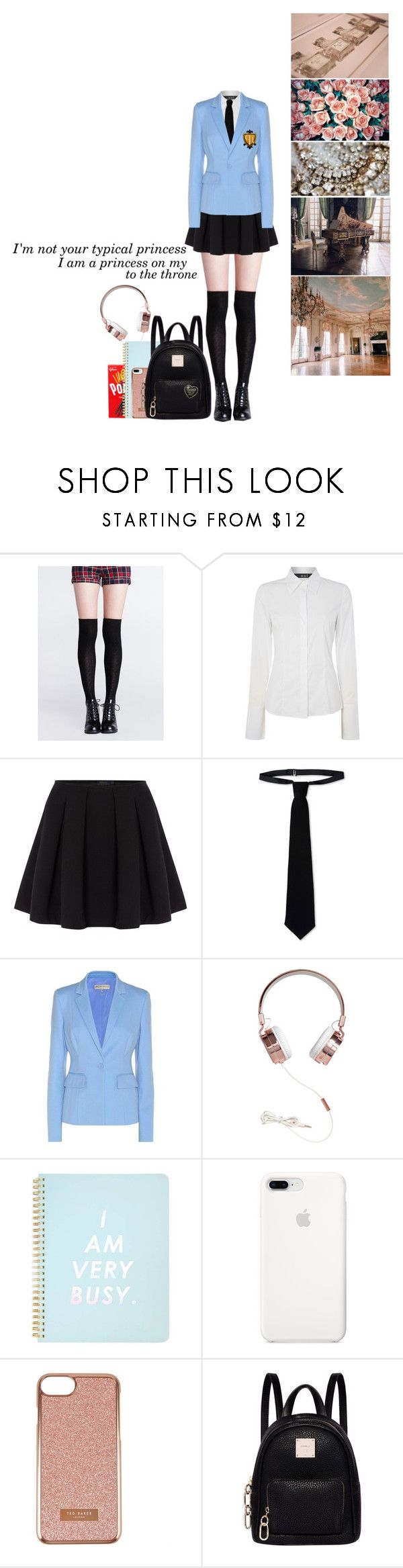 """""""Me in OHSHC"""" by pastelgothprincess27 ❤ liked on Polyvore featuring Oui, Polo Ralph Lauren, RED Valentino, Emilio Pucci, Miss Selfridge, Ted Baker and Fiorelli"""