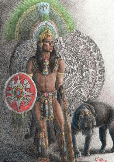 Aztec Warrior...byVictoriaVerebelyi