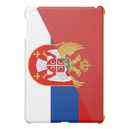 serbia montenegro flag country half symbol iPad mini case - country gifts style diy gift ideas