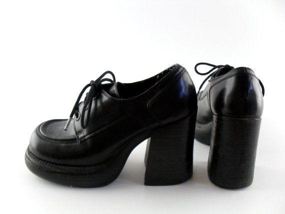 90s Platform Shoes Sz 6 // 90s Shoes 6 90s Grunge Club Kid // Chunky