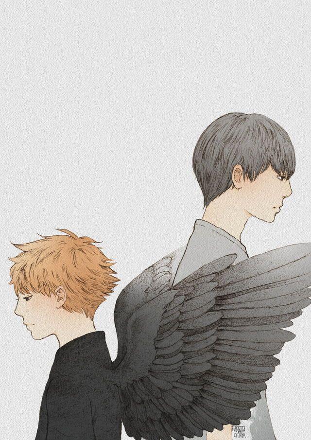 Hinata Shouyou the angel of death, who fell in love with a human. #kagehina #anwitacitriya