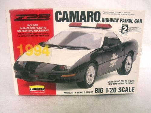 Lindberg 1994 Chevy Camaro Highway Patrol Police Car Model Kit 1 20 Scale   eBay $12.00