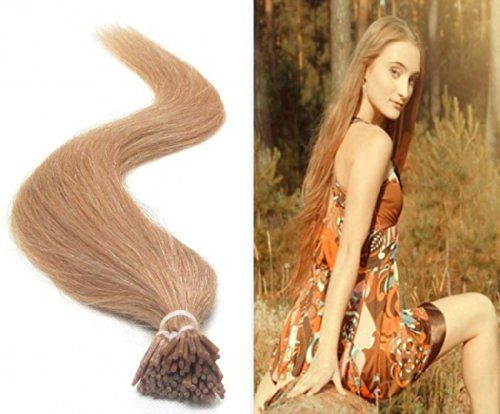 Extension de cheveux humains Collez cheveux clous 48cm russe droite annee 5AAAAA,Strawberry Blonde(#27)50g | Your #1 Source for Beauty Produ...