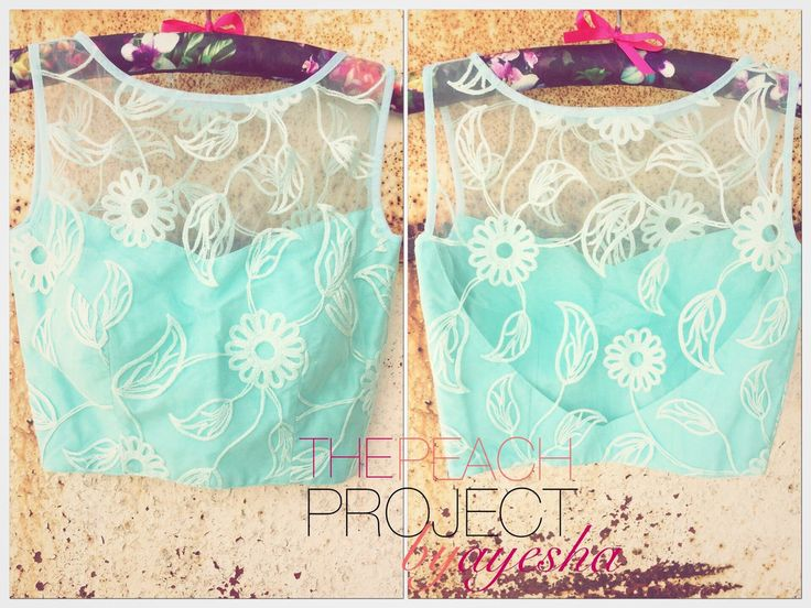 The Sheer Aqua Crop Top looks so refreshing and minty! We love!