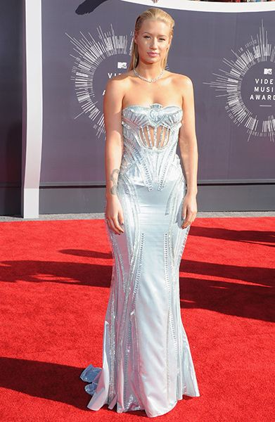 Iggy Azalea of MTV's 'House of Style' attends the 2014 MTV Video Music Awards in Inglewood, California.