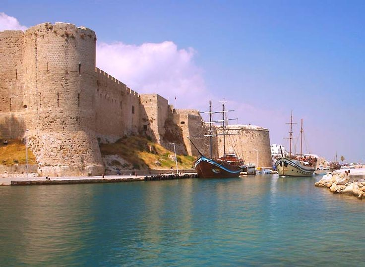 Kyrenia Castle, North Cyprus stands on a site that was in use during Roman times. The impressive fortress dominates the entrance to the old harbour. Originally thought to have been built around the 7th Century by the Byzantines and used as a defence against the invading Arabs. The Castle has been used as a refuge and shelter during times of conflict and peace. The first recorded reference to the castle was in the 1100's when Richard the Lion Heart conquered Cyprus on his way to the crusades.