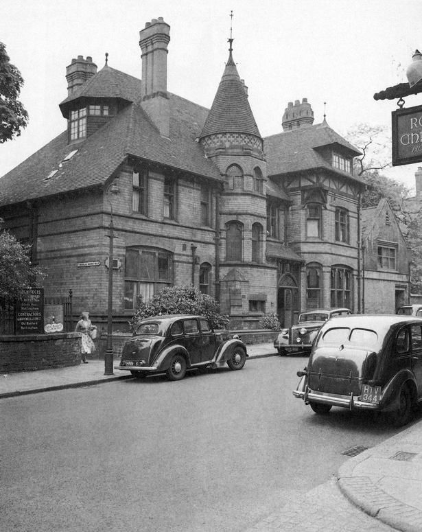St Nicholas Rectory in Castle Gate, Nottingham, May 1957. It was demolished to make way for Maid Marian Way.