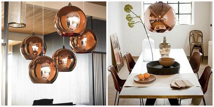 Tom Dixon Copper Shade Round Glass Pendant Light in Copper | GoLights.com.au 20cm $88