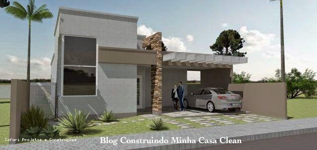 Fachadas de Casas Modernas com Pórtico!
