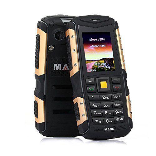 EasySMX MANN ZUGS IP67 Téléphone Portable Etanche Anti-poussière Antichoc Téléphone Mobile Extérieure Robuste avec Caméra Bluetooth…