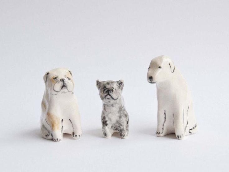 ceramic pets by leah reena. Wonder if we could commission one of Henry.
