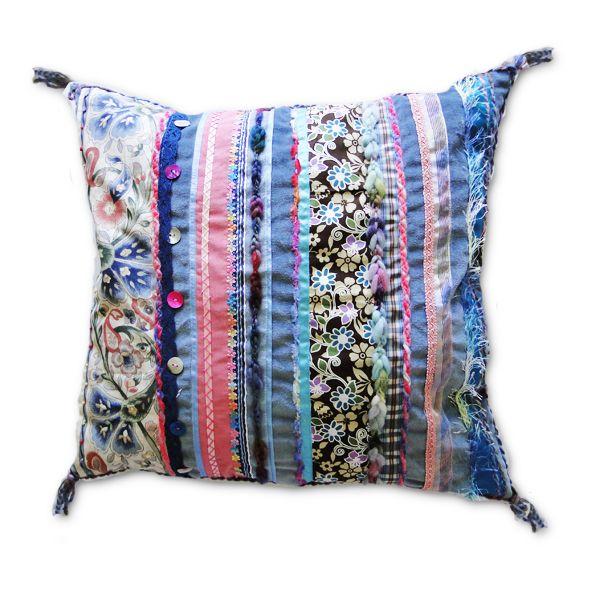 Hand Made Velvet Cushion - Powder Blue