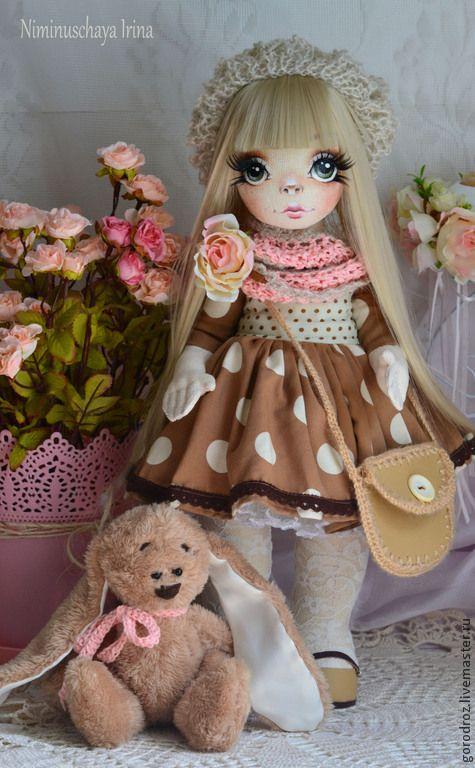 Купить Дарья! Авторская куколка ручной работы - бежевый, кукла, кукла для…