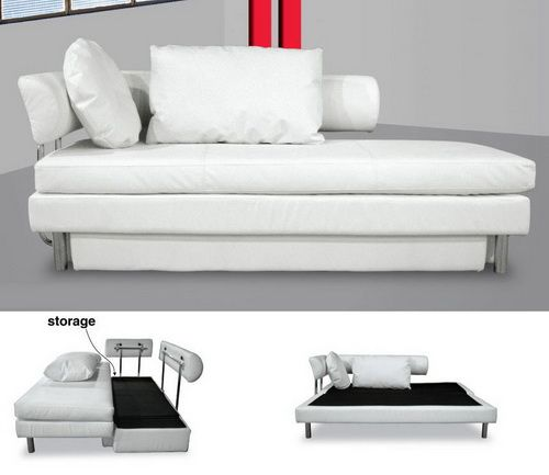 White Sofa Bed With Storage