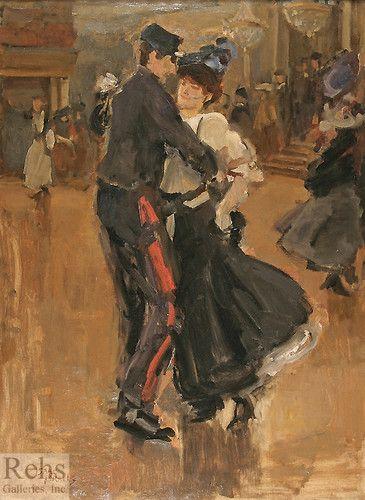 isaac israels ~ dancing at the moulin de la galette