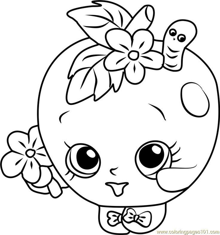 apple blossom shopkins coloring page in 2020 | Unicorn ...
