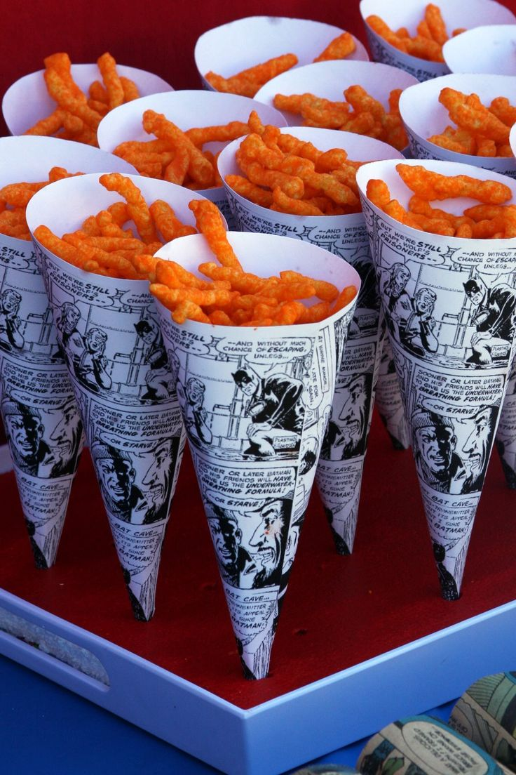 superhero themed party | Comic book sandwich wrappers...those vintage comic books sure came in ...