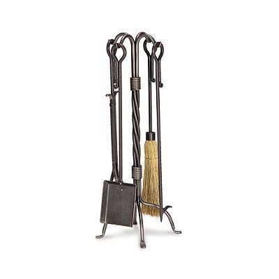 Traditional Fireplace Tool Set - Burnished Bronze - Frontgate