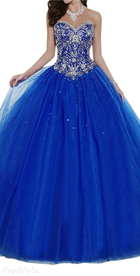 Gorgeous Bridal Sparkling Crystal Tulle Ball Gown