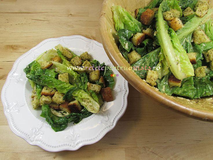 #Reteta de #salata #Caesar - reteta originala a faimosului bucatar Caesar Cardini, cu toate secretele de preparare si istoria retetei.