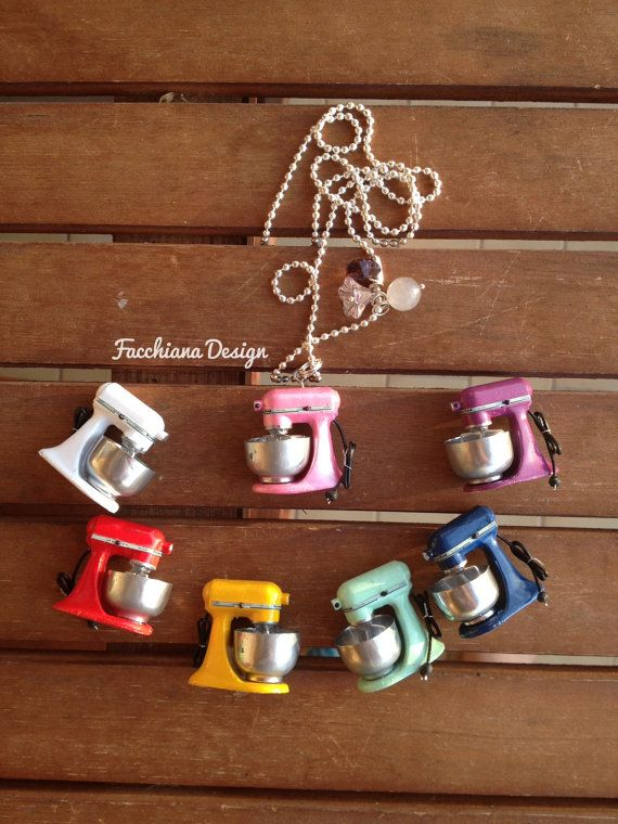 Miniature Kitchen Aid necklace with heart by FacchianaDesign