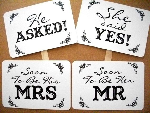 My original He Asked / She Said Yes Soon To Be Mr and Mrs by akapertyfultings, $9.50