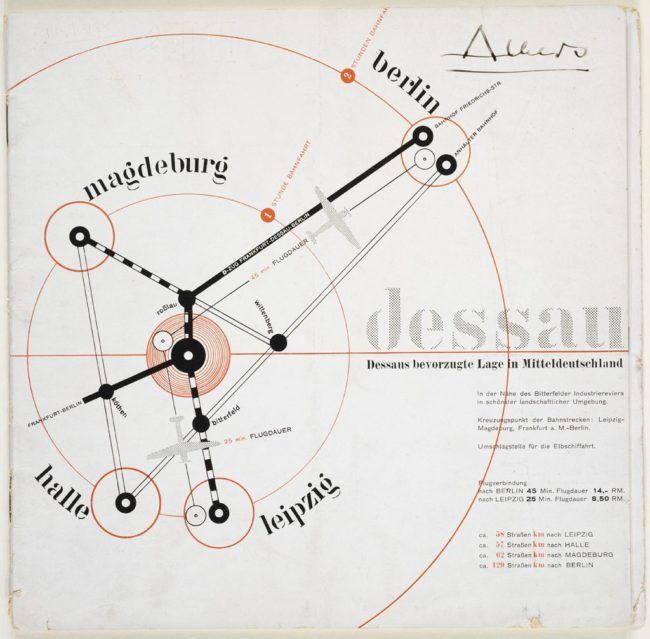 Pamphlet for City of Dessau by Joost Schmidt, 1930. Harvard Art Museums/Busch-Reisinger Museum.