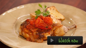 Simple Grilled Pork Chops.    When you need a quick and easy meal, there is nothing tastier than a simple grilled pork chop with sautéed tomatoes. The acidity of the tomatoes is a great contrast to the juiciness of the pork and makes for a truly balanced, delightful dish.